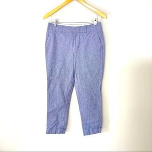 Banana Republic The Martin Fit Cropped Pants Blue